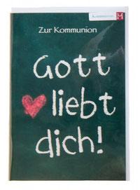 Kommunionkarte Gott liebt dich