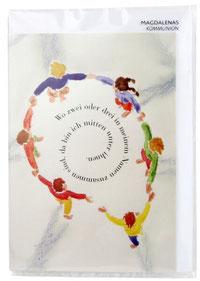 Kommunionkarte Kreis aus Kindern