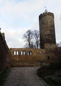 Schönburg, Vorburg und Bergfried