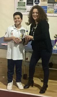 Riccardo Natoli vincitore torneo Cadetti