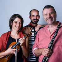 Zigeunermusik mit AMAL  Samuel Freiburghaus – Klarinette, Corina Landes – Geige, Roberto Vacca – Akkordeon, Kornhauskeller Frick 2020