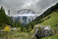 Das Gamsjoch in Wolken