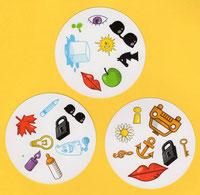 """Karten aus dem Spiel """"Dobble"""" - ideal für den Fremdsprachenunterricht"""