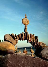 Steinpyramide, Gleichgewicht, Ideen, Ressourcen