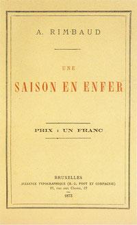 """Prima edizione di """"Una Stagione all'Inferno"""" (1873). Ed. Poot & C."""