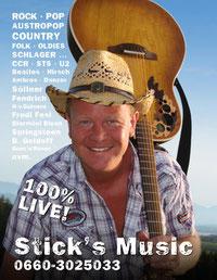 Roland Stiegler Stick Music Live Gitarren Kurse Salzburg Oldies Kinder Erwachsene Anfänger