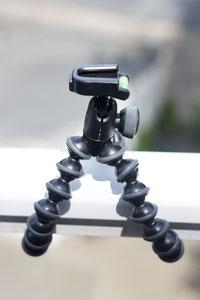 Joby Gorillapod Action mit Kugelkopf und Aufnahme für GoPro-Halterung