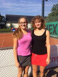 Finalistinnen U18 Doppel: Katharina und Lina