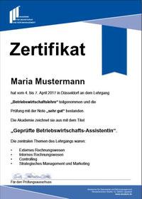 Geprüfte Betriebswirtschafts-Assistentin