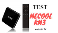 Mecool KM3 test box Android TV