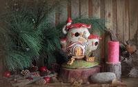 Keramik Weihnachtliche Dekoration