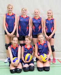 Es spielten: v.o.l. Marie Elin Schwarz, Esther Kusch, Vivien Looger, Carolin de Vries; unten: Lena Bauerle, Anna de Vries, Lisa Cornelius
