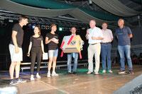 Klaus Baldauf, Michael Ebermann, Falck Bell und Harald Schmidt v. KC Frankfurt (Oder) v.r. sowie Herr Rossius vom CVJM (l)_12.06.2018, Foto: ROG