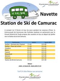 Navette station de ski Camurac