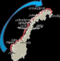 フッティルーテン航路図
