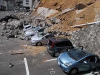 画像:水戸の被災後の写真