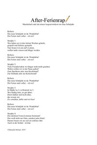 Musik Grundschule Rap für Kinder