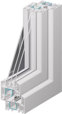 Profil eines Kunststoff-Fensters (Foto: Distner)