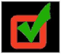 vinkje van goedgekeurd - Beste laminaatservice van Nederland
