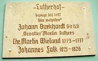 Gedenktafel Lutherhof