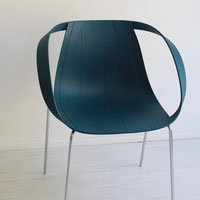 Sedia Moroso Impossible wood ocean blue