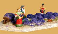 Eine der vielen kleinen Szenen: Die Lavendelernte (Manifaktur: Escoffier)
