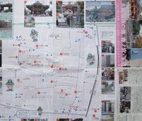 裏面の地図には地元の情報が満載