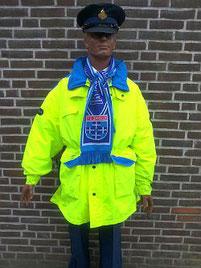 """""""Voetbal"""" inzetjas regiopolitie Zwolle, met dank aan Wessel van der Maten"""