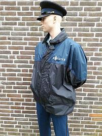 Regenjas, kort model, in blauw/zwart uitvoering
