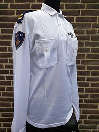 Bikersshirt, wit, lange mouw, regio Fryslan