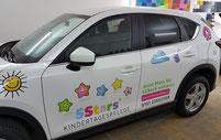 Werbefolierung mit Digitaldruckfolie Fahrzeugbeschriftung