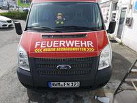 Signal Folierung, Werbung Feuerwehr Beschriftung