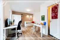 Apartment mit eigener Küchenzeile