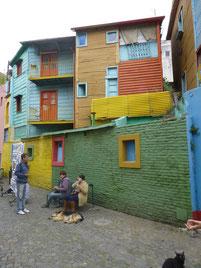 La Boca, das Armenviertel von Buenos Aires - aber  farbenfroh