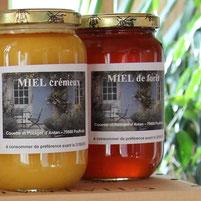 pots de miel cremeux et forêt de miel et goûter d'antan en deux sevres