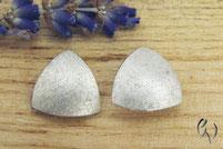 Ohrstecker Silber, großes Dreieck