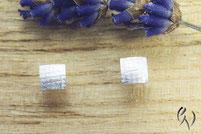 Ohrstecker Silber, Miniquadrate