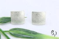 Ohrstecker Silber, großes Quadrat