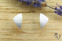 Ohrstecker Silber, ungleiches Dreieck