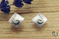 Ohrstecker Silber mit Gold