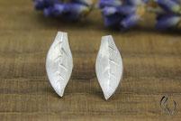 Ohrstecker Silber, Herbstblätter, Handarbeit