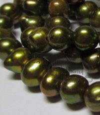 Süsswasser Perlen Olivgrün Coffe