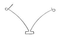 Distanziatore arco con gancio palo metallo