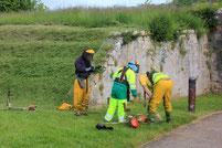 ouvriers des espaces verts au travail