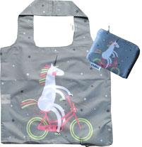Chilino Bag Tasche Einhorn Fahrrad, grau