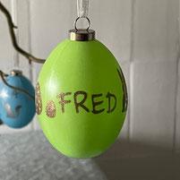 Druckatelier46 - Weihnachtskugeln mit Namen champagner matt