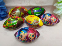 PU Squishy Rugby Balls with Full Colors Printings