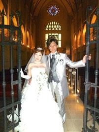 ブライダルエステをされたお客様、お優しい彼とのご結婚式