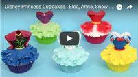 Disney Princess Cupcakes - Elsa, Anna, Snow White, Ariel, Elena