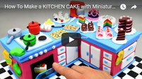 miniature cake, kitchen cake,
